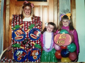Erin the Picnic, Kelley the Hula Girl, and Sarah the Bag of Jelly Belly's.